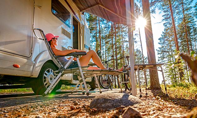 Camperplaats voor 1 tot 7 nachten nabij De Maasduinen