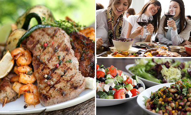 Mixed grill + salade bij Restaurant Jasmijn