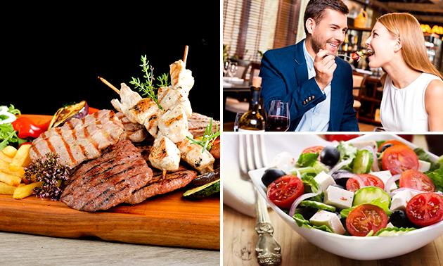 Grieks 3-gangendiner + ouzo bij Restaurant Santorini