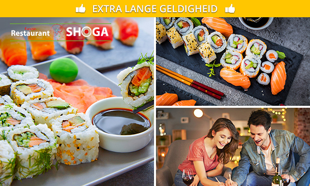 Afhalen: sushibox (16, 24, 32 of 64 stuks) bij Shoga