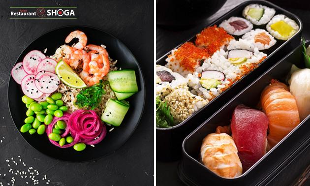 Afhalen: sushibox (56 stuks) van Shoga