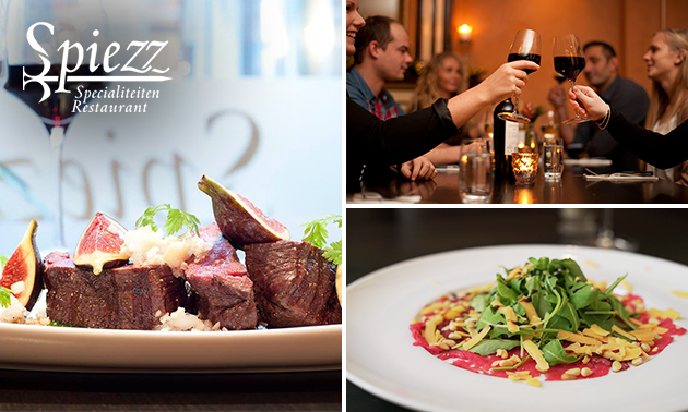 3-gangen keuzediner bij Restaurant Spiezz