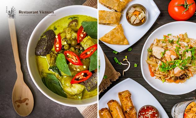 Afhalen: Thais of Vietnamees 2- of 3-gangen keuzediner