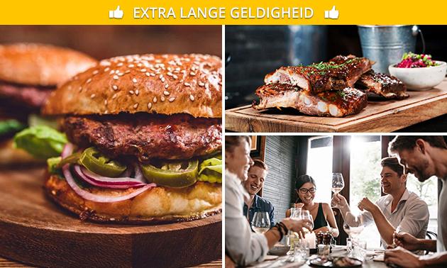 Thuisbezorgd of afhalen: burger- of spareribsmenu