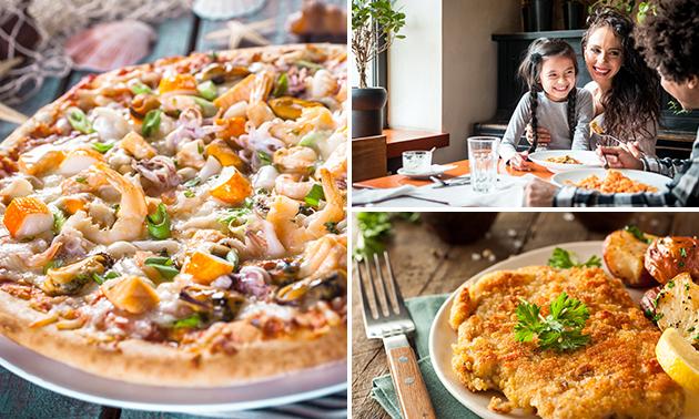 Zum Abholen: 2 Pizza oder Schnitzel Menüs für 2