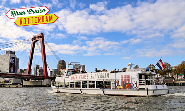 Rondvaart met gids door Rotterdam