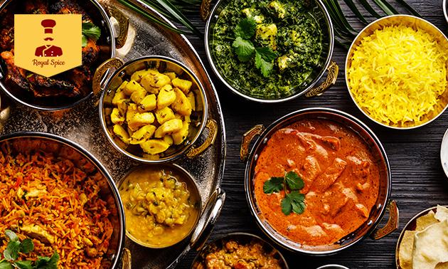 Thuisbezorgd: Indiase maaltijd naar keuze + drankje