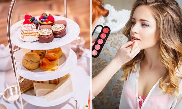High tea + workshop make-up (2,5 uur)