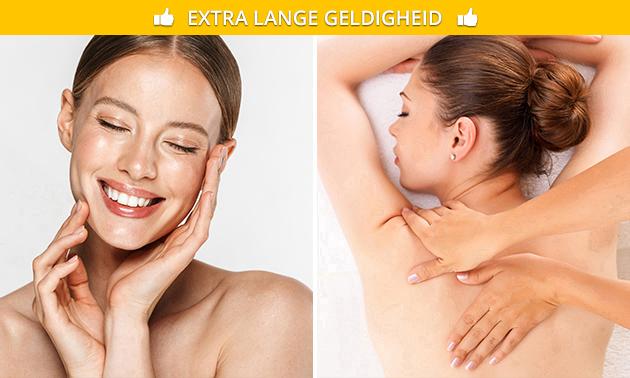 Rugmassage + gezichtsbehandeling (60 min)