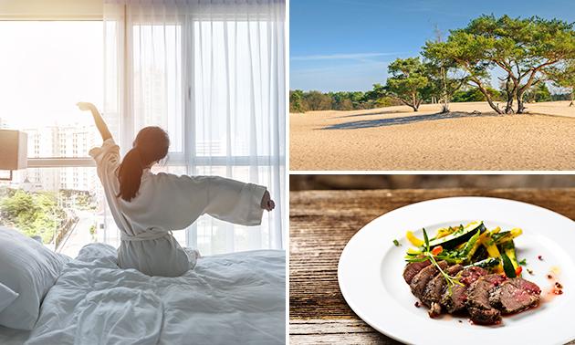 VIP-overnachting voor 2 + ontbijt + evt. diner in bosrijke omgeving