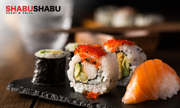 Afhalen: sushibox (24, 38, 40 of 58 stuks) van Shabu Shabu