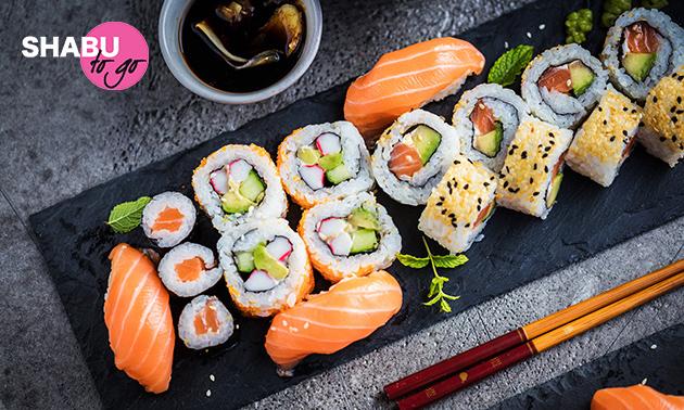 Afhalen: sushibox (24 of 40 stuks) van Shabu