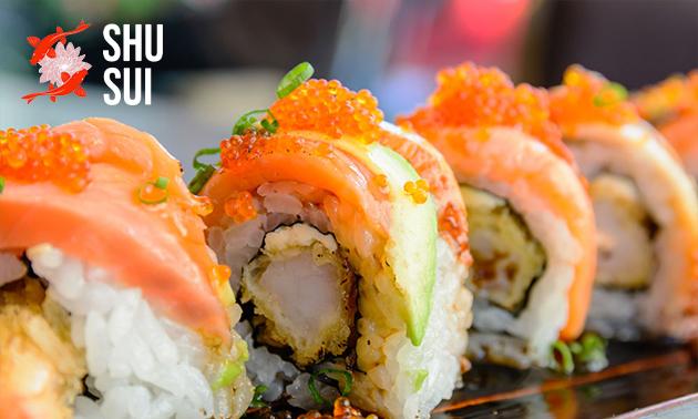 All-You-Can-Eat sushi (2,5 uur) bij ShuSui
