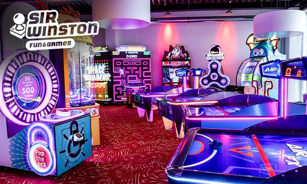 Speeltegoed voor videogames en arcadespellen