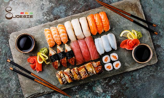 Thuisbezorgd of afhalen: sushibox (30 of 40 stuks)