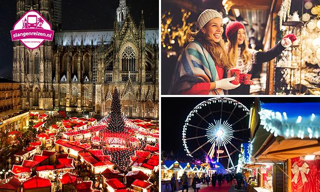 Busreis naar kerstmarkt in Duitsland, Nederland of België