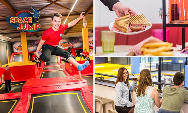 Entree tot indoor trampolinepark (1 uur)
