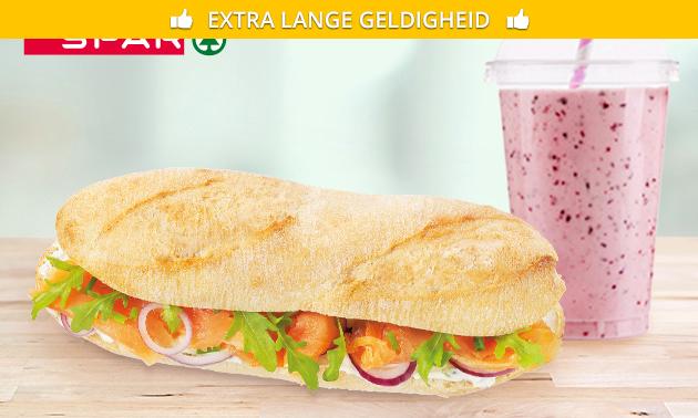 Broodje + smoothie bij Spar Arnhem