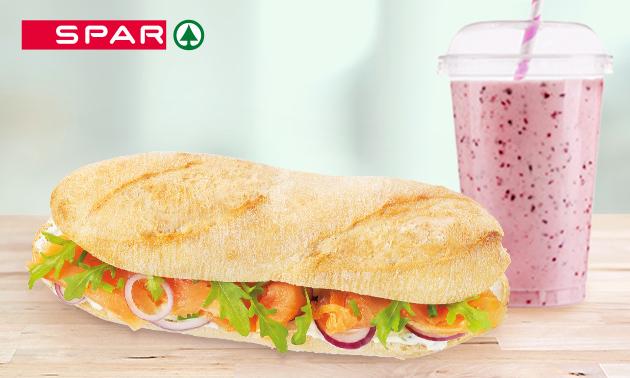 Afhalen: broodje + smoothie bij SPAR City Enschede