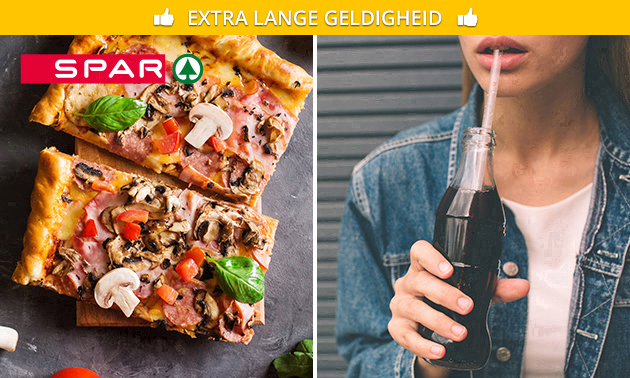 Afhalen: pizzapunt + drankje bij SPAR City Enschede
