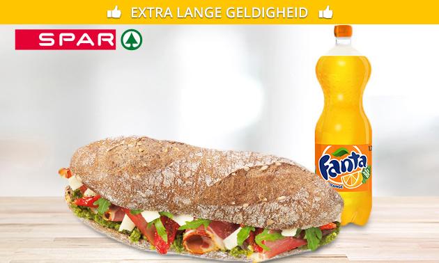 Broodje + frisdrank bij Spar city