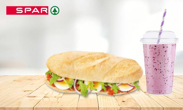 Afhalen: broodje + smoothie bij Spar City Zwolle