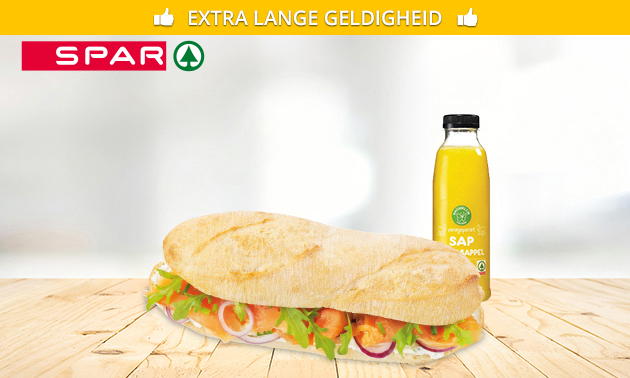 Afhalen: yoghurt met topping + 2 croissants bij Spar Legebeke