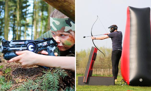 Lasergame of archery tag op een locatie naar keuze