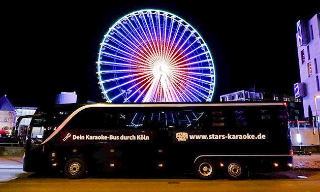 Fahrt im Karaoke Bus Köln (90 Minuten)
