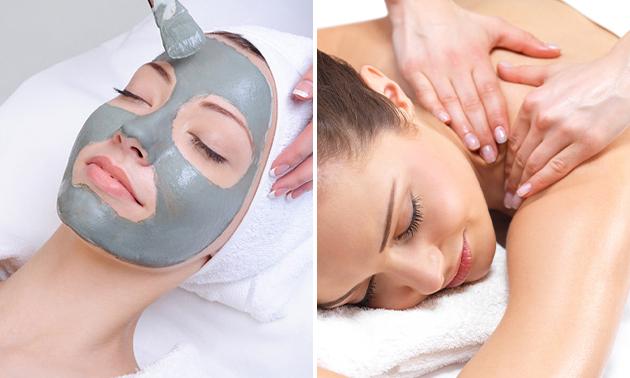 Massage + gezichtsbehandeling (75 min)