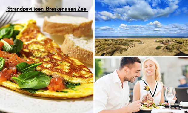 Luxe ontbijt bij Strandpaviljoen BAZ