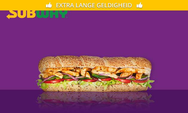 Bij Subway: footlong broodje (30 cm) naar keuze