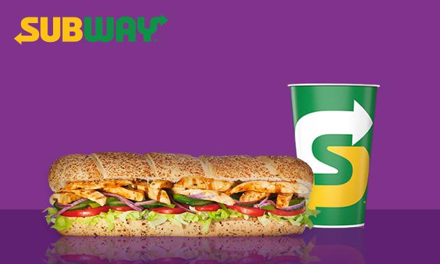 Zum Abholen: Sub (30 cm) + Getränk (0,4 l) bei Subway