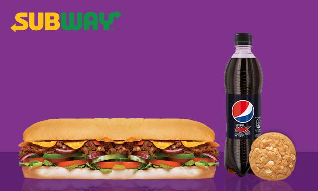 Afhalen: broodje bij Subway + frisdrank + cookie