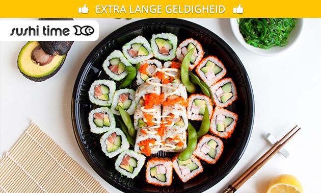 Afhalen: sushibox (20, 24, 40 of 52 stuks) van Sushi Time