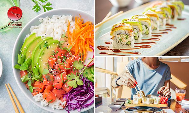 Afhalen: poké sushi bowl of sushibox bij Sushimi