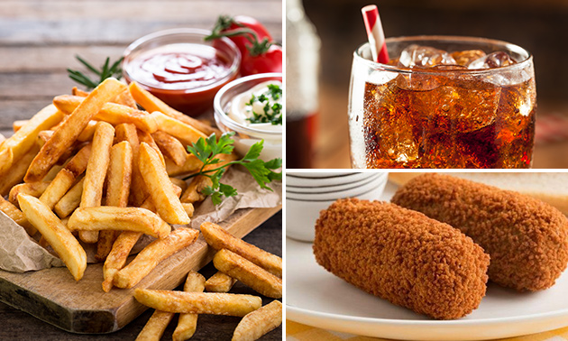 Grote friet + snack + drankje in hartje Hilversum