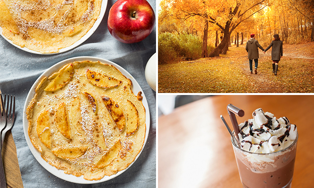 Afhalen: pannenkoek met 3 toppings naar keuze