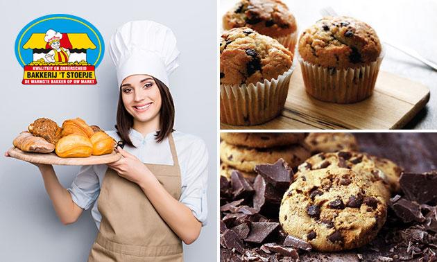 Pakket vol verse bakkersproducten