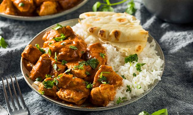 Indisches 3-Gänge-Mittagsmenü + Getränk