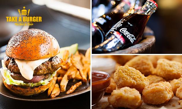 Ter plekke eten of afhalen: cheeseburger- of bucketmenu