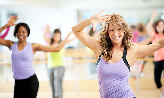 Unbegrenzt Zumba oder Pole Fitness für 1 Monat