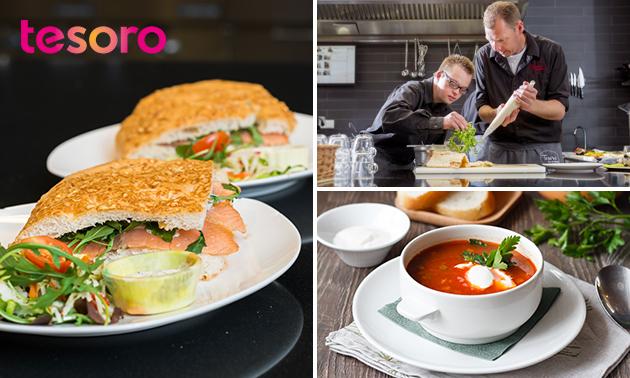 Afhalen: lunchbox naar keuze bij Tesoro Eten & Drinken
