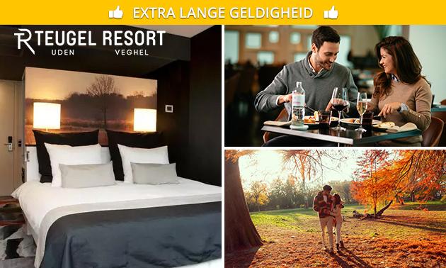 Overnachting + ontbijt voor 2 bij Teugel Resort Uden