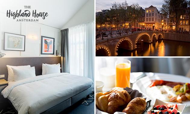 Overnachting + ontbijt voor 2 personen in hartje Amsterdam
