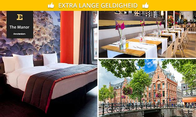 Overnachting + ontbijt + drankje voor 2 in Amsterdam