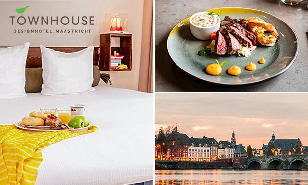 Übernachtung + 2-Gänge-Menü für 2 in Maastricht