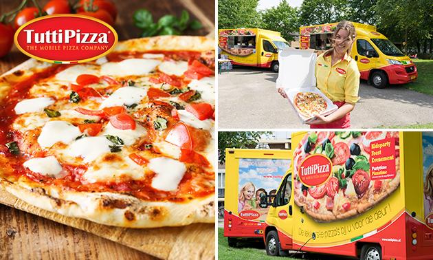 Thuisbezorgd en ter plekke gebakken: pizza naar keuze