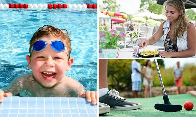 Midgetgolf en/of zwemmen + snackmenu