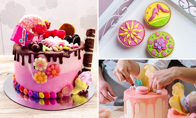 Workshop cupcakes/taart decoreren (2,5 of 3 uur)
